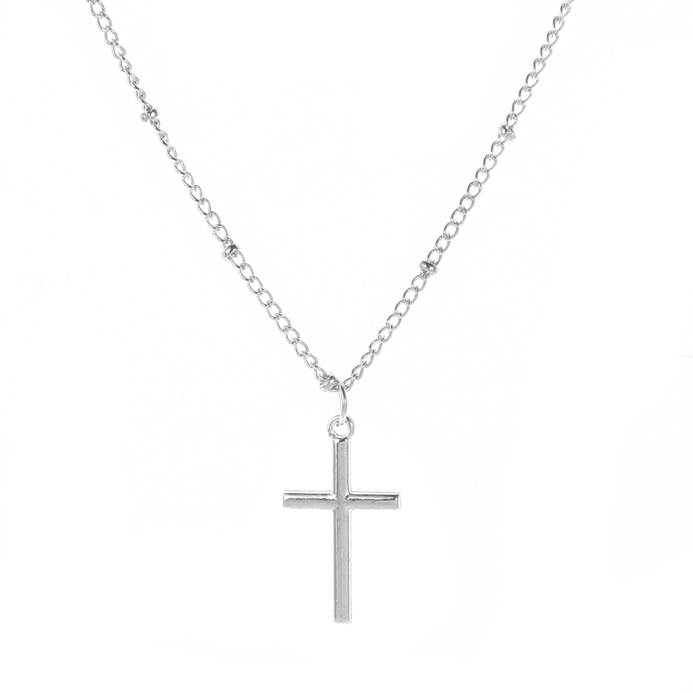 SUMENG New Fashion Summer Gold Chain Cross Necklace Small Gold Cross Religious Jewelry For Women 2020 Wholesale