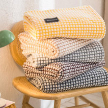 Classic Plaid for Beds Coral Fleece Blankets Gray Color Plaids Single/Queen/King Flannel Bedspreads Soft Warm Blankets for Bed