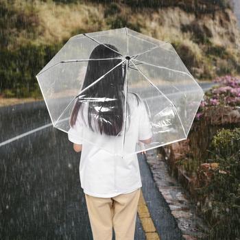 Paraguas transparente a prueba de viento Paraguas automático plegable Paraguas lluvia hombres...