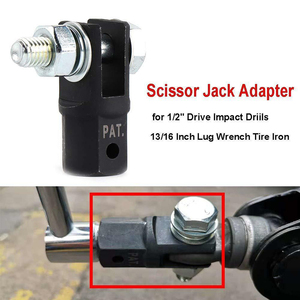 2020 New Scissor Jack Adapter Tools Adapter Drive Impact Wrench With 1/2 Inch Chrome Vanadium Steel Socket Auto Car Accessories