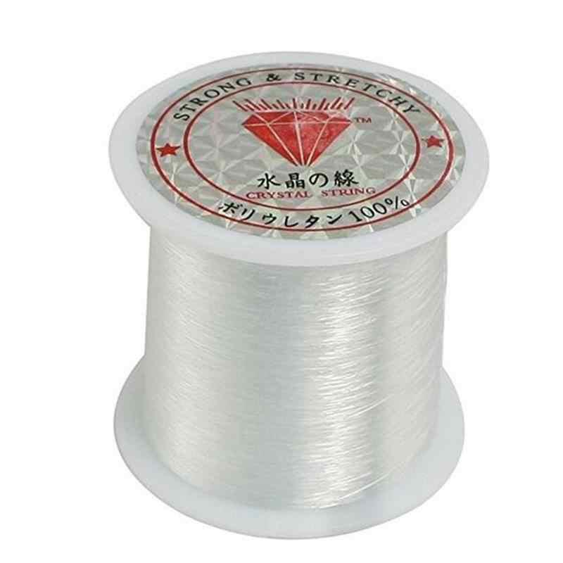 1 rollo de hilo de pesca de Nylon transparente como el cristal carrete de hilo de cuentas de joyería hilo de cuentas para DIY Crafting-0.2MM * 155M