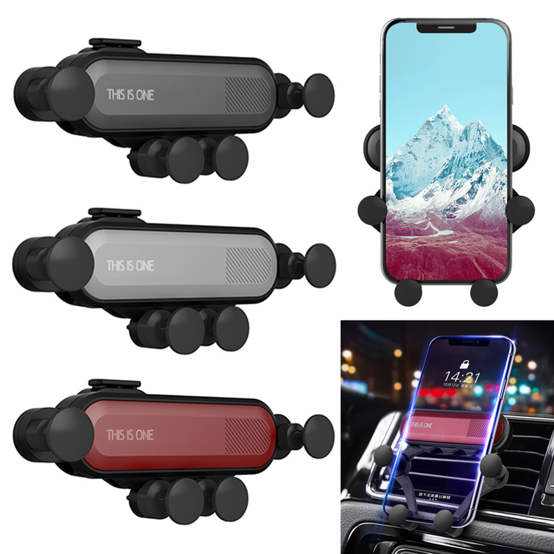 2019 New Type 360 Degree Steering Adjustment Gravity Car Phone Mount Hands Free Auto Lock Air Vent Cradle Auto Release Cell Phon