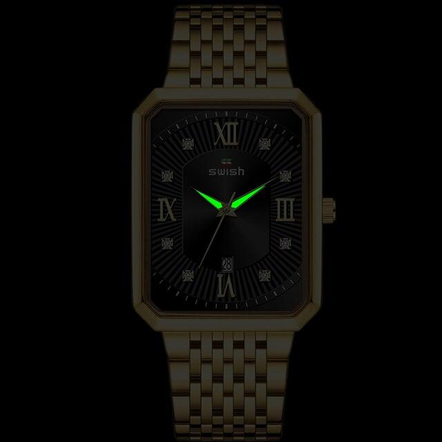 Фото часы наручные swish мужские кварцевые роскошные повседневные цена