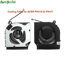 CPU GPU Cooler Cooling Fans for Acer Predator Helios 300 PH315-52 PH317-53 Computer gaming Fan laptop DC28000QEF0 DC 5V 4 PIN