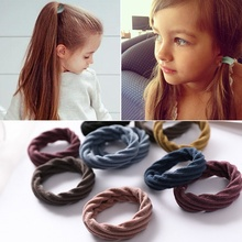Elastic Hair Bands Seamless Fabric Nylon rubber bands for hair Ponytail Holders For girls band girl accessoires 10pcs