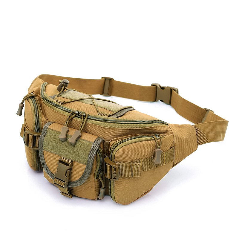 Outdoor Large Wallet Riding Tactical Waist Pack Mountain Climbing Waist Pack Casual Chest Pack Men's Army Fans Bag