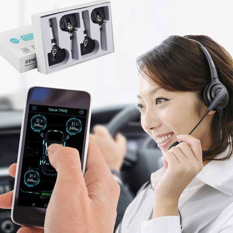 GIORDON TPMS Bluetooth 4.0 Universal External Tyre Pressure Sensor Support IOS Android Phone,tire Pressure Sensor Easy Install