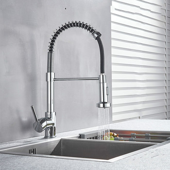 Hanwee Spring Kitchen Sink Faucets Brass Basin Mixer Faucet Tap Hot And Cold Water Taps Crane Torneira Kitchen Faucets wall mounted kitchen faucet rotate vegetable basin faucet hot cold water mixer mop pool tap sink faucet torneira double holes