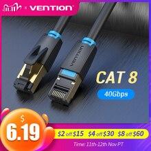 Vention Cable Ethernet Cat8 SSTP 40gbps supervelocidad Cat 8 RJ45, Cable de red de conexión Lan para enrutador, módem, PC, RJ 45