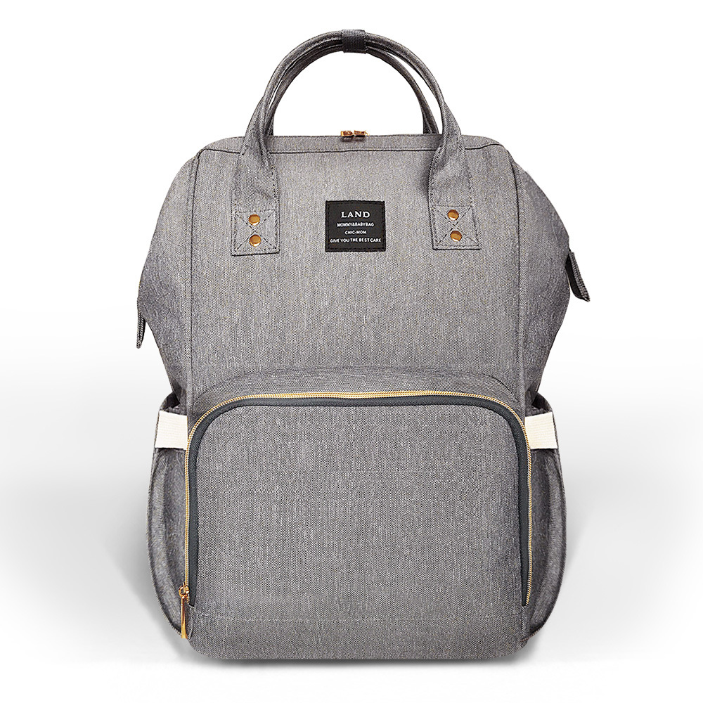 LAND Baby Diaper Bag Mummy Maternity Nappy Bag Large Capacity Baby Bag Travel Backpack Designer Changing Nursing Bag