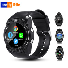 V8 스마트 워치 카메라/sim 카드 슬롯 응답 전화 전화 기능 Smartwatch 안드로이드 전체 터치 스크린 블루투스 시계