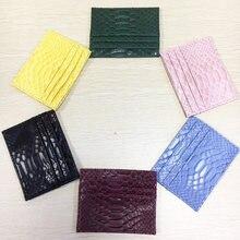 Aangepaste Nieuwe Collectie Schoonheid Kleur Vrouwen Snake Portemonnees Mini Portefeuilles Sexy Vrouwelijke Kaarthouder Tas