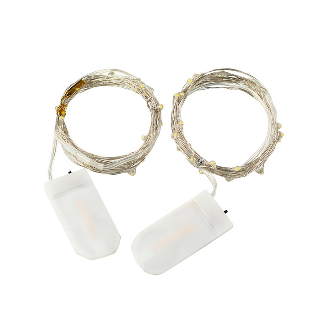 Led Button Battery Box Copper Wire Light String