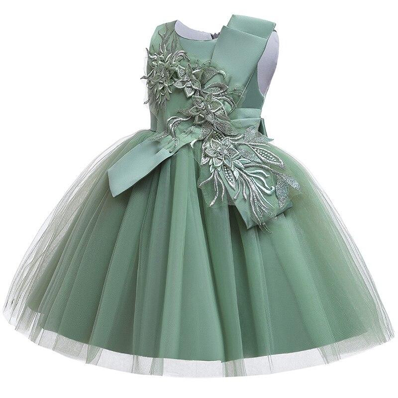 2019 Pageant dresses flower girl dresses embroidery mesh girl dresses for weddings kids children's clothing baby costume L5045