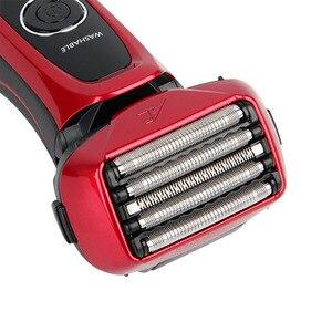 Image 2 - Panasonic masculino barbeador elétrico ES LV64 inteligente 5 flutuante cortador cabeça suporte corpo lavável recarregável baixa bateria exibição