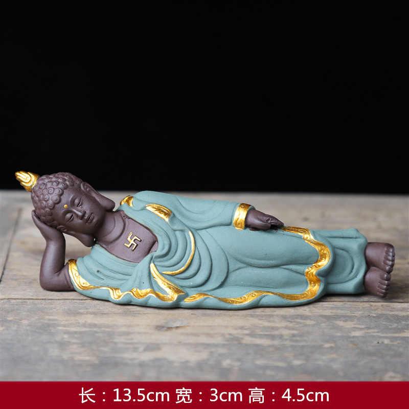 Keramik Besar Ungu Pasir Kerajinan Ornamen Buddha Berbaring