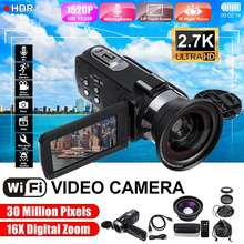 2.7K HD Camcorder Video Camera Wifi Night Vision 3.0 Inch LCD Screen Time-lapse