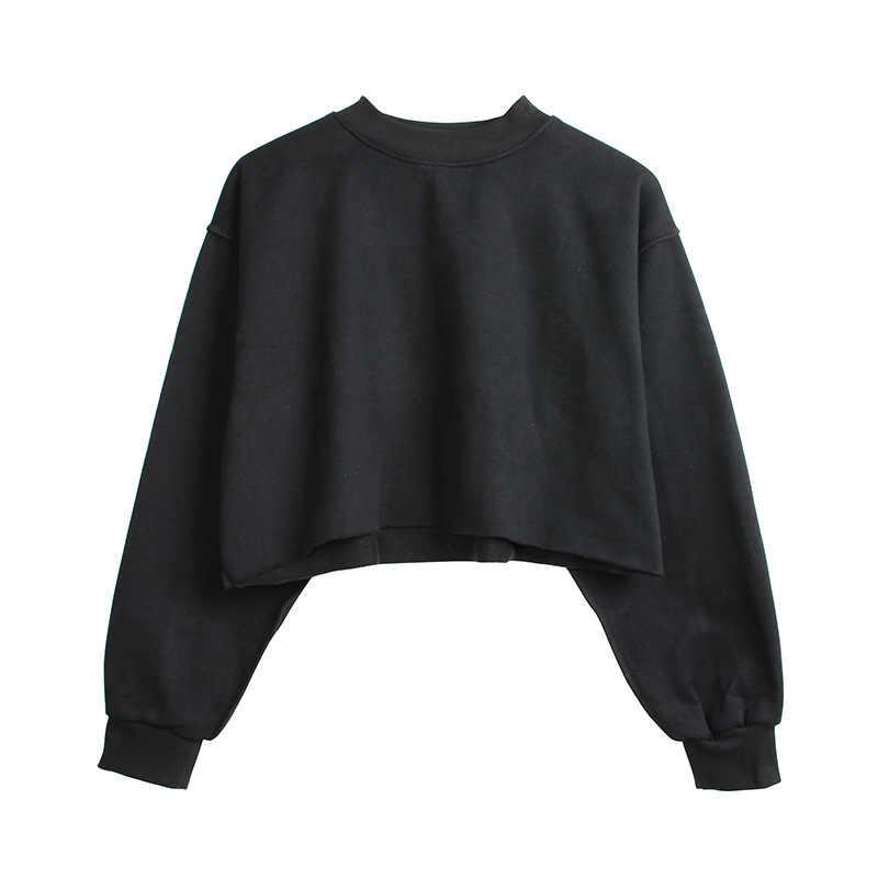 9 renkler tişörtü kış yuvarlak boyun uzun kollu kadife sıcak tişörtü kadın kadın rahat kazak Tops kırpma üst Sudadera