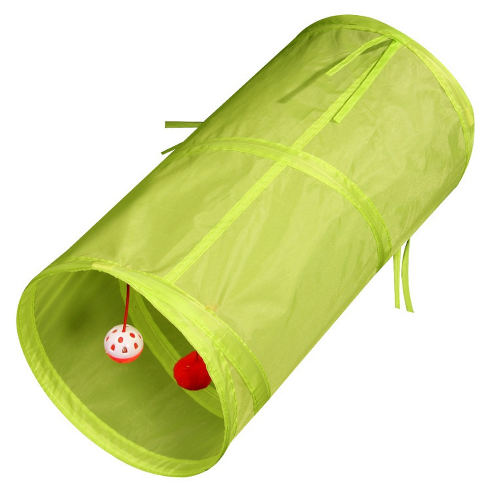 6 Color Cat Tunnel Funny Hamster Play Tubes Balls Collspsible Toy Kitten Puppy Ferrets Rabbit Dog Animal Interactive Accessories