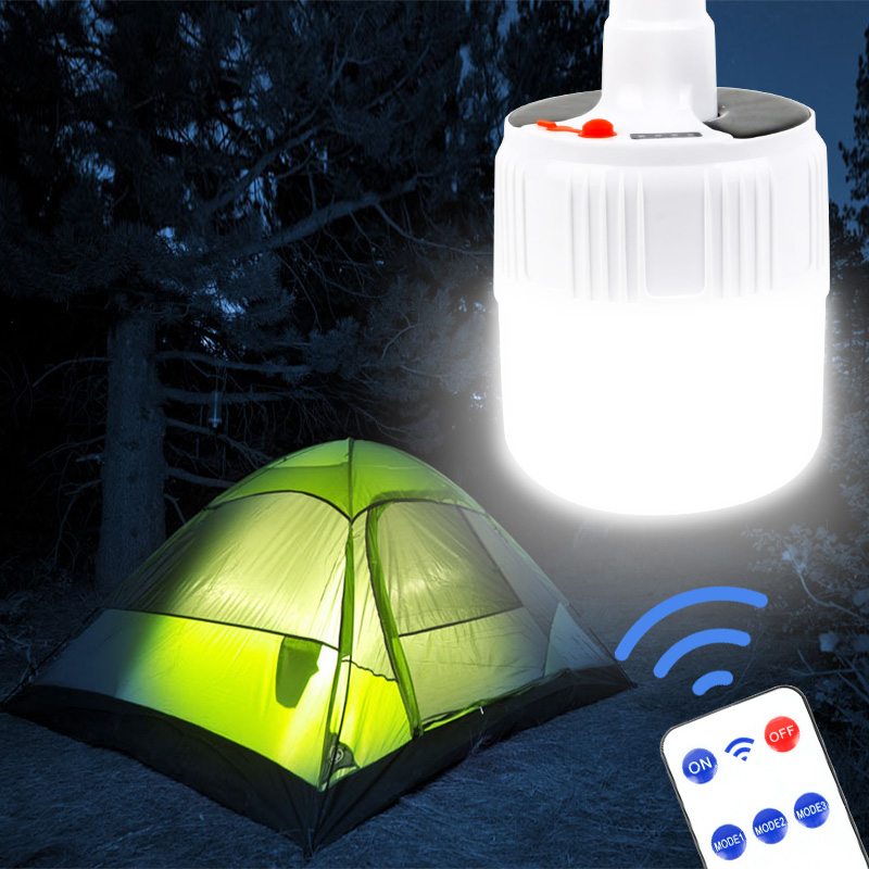 100W Camping Lantern Solar LED Camping Light Mini Portable Lantern Tent Camping Lamp DC/Solar Rechargeable Emergency Light