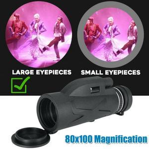 Image 2 - BAK4 Prisma Hoge Vergroting Lijst Monoculairen Lage Lichtniveau Nachtzicht Waterdicht Vocht Militaire Concert Telescoop 80x100