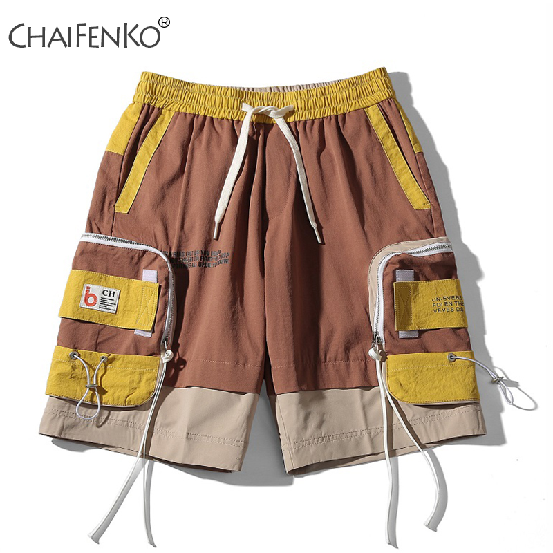CHAIFENKO Summer Fashion Men Shorts 2020 New Hot Motion Casual Pocket Tooling Shorts Hip Hop Streetwear Harajuku Shorts Mens