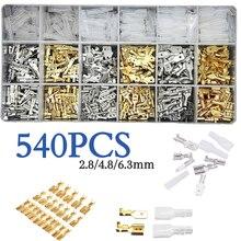540 pces fêmea macho elétrico fio de pá conectores de extremidade lugs bateria starter cabo splice friso terminais kit variedade