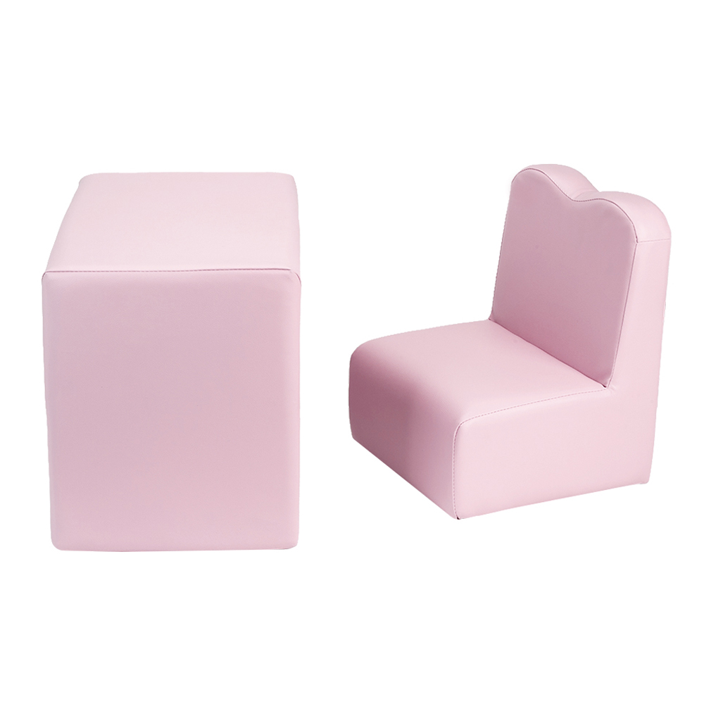 Children Sofa Multi-Functional Sofa Table And Chair Set Pink Washable Baby Sofa Skin For Infant Kid