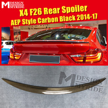 X4 F26 Trunk Spoiler AEP Style Carbon Fiber Wings Fit For BMW X-series Gloss Black Rear 2014-2017