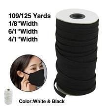Cord Elastic-Band Braided Sewing DIY Length 109/125-Yards 1/4in