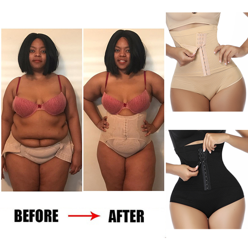Women Waist Trainer Corset Body Shaper Butt Lifter High Waist Control Panties Faja Shapewear Tummy Shaper Girdle Slimming Belt