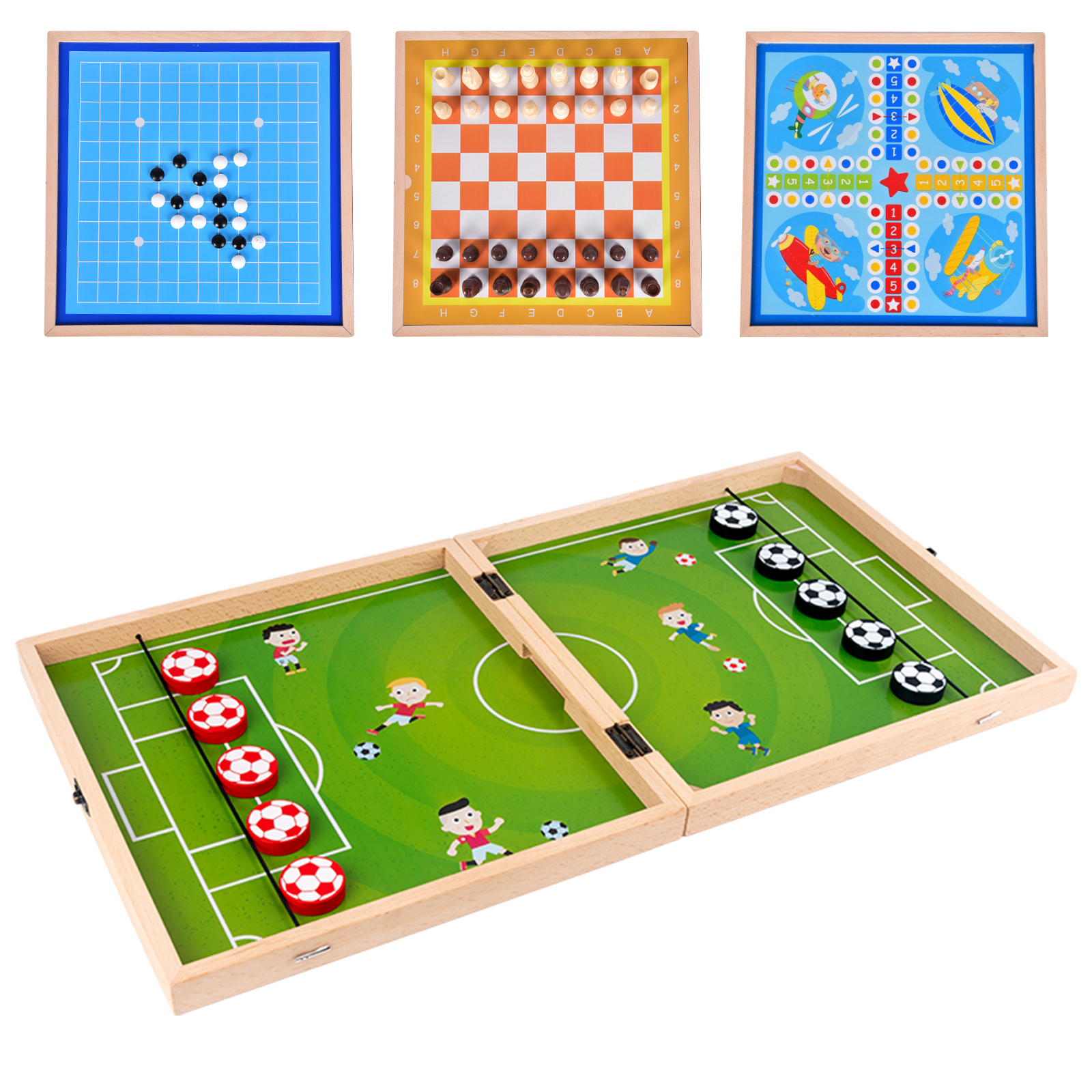 Table Hockey Game Family Table Board Games Catapult Chess Parent-child Interactive Toy Fast Sling Puck Game Ice Hockey Games
