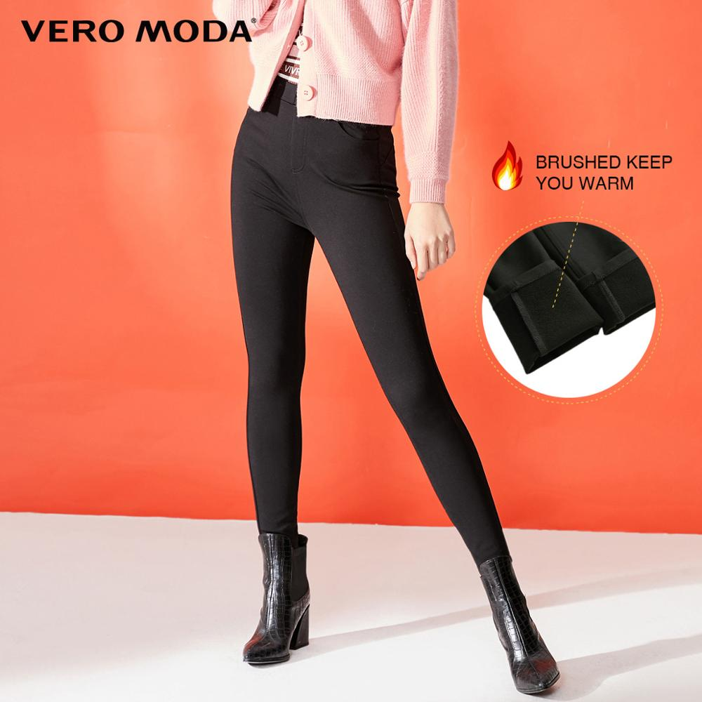 Vero Moda Women's Slim Fit Stretch Brushed Tight-leg Casual Pants | 319374504
