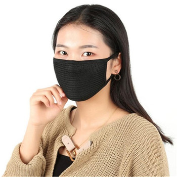 10pcs Cotton Mask Simple Masque Unisex Black Cycling Anti-dust Breathable Earloop Mouth Face Mask Warm Mask Bike Face Mask