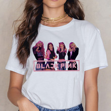 Blackpink Kill This Love T Shirt Women Harajuku LISA ROSE JISOO JENNIE 90s T-shirt Ullzang Cartoon Tshirt Fashion Top Tee Female(China)