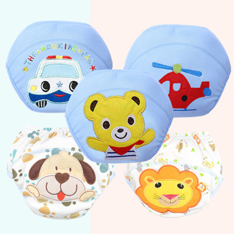 Baby Diaper Training Pants Reusable Nappy Washable Diapers Cotton Learning Pants Kids Wear QD05