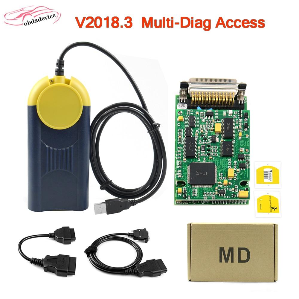 Diagnostic Tool V2018.3 Multi-Diag Multi Diag Access J2534 Interface OBD2 Device Multidiag J2534 With Free Shipping