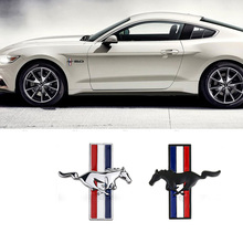 Car Styling 3D Metal Sticker Logo Badge Emblem Car Side Fender Rear Trunk Decal Suitable for Ford Mustang Decorative Accessories цена и фото