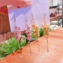 Женские длинные серьги подвески mengjiqiao новые металлические