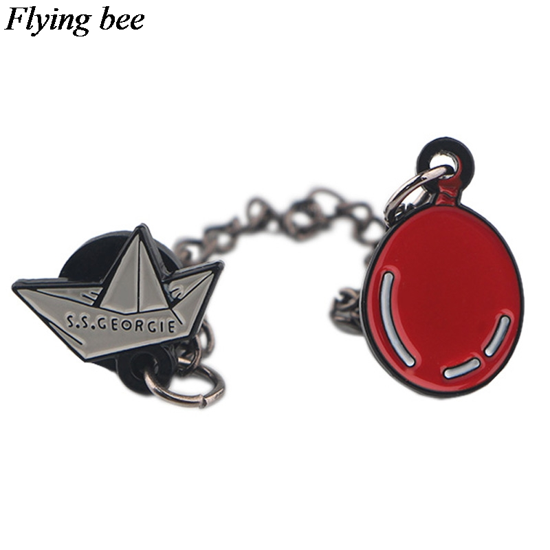 Flyingbee Ghost Pins Brooch Metal Badge For Backpack Clothes Shirt Collar Enamel Pin Fans Gifts For Women Men X0583