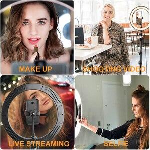 Image 5 - 스탠드 Rovtop LED 카메라와 함께 10.2 인치 링 라이트 아이폰 삼각대와 비디오 사진에 대한 전화 홀더에 대한 Selfie 라이트 링