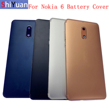 Original Back Battery Cover Rear Door Panel Housing Case For Nokia 6 Battery Cover with Camera Lens Replacement Part