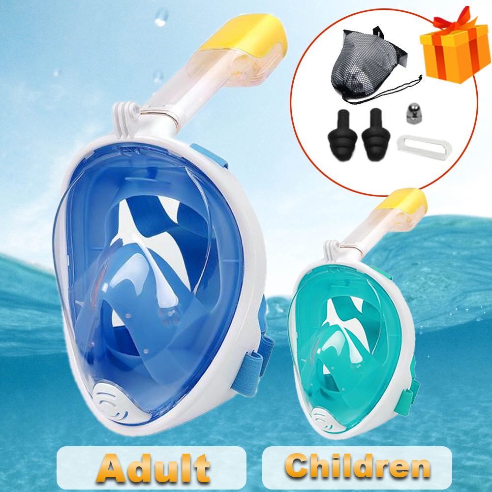 Underwater Scuba Snorkeling Anti Fog Mask Set Diving Full Face Respiratory Masks Safe and Waterproof Swimming Equipment(China)