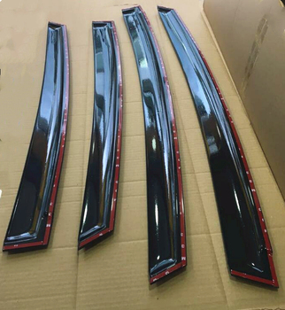 4PCรถประตูหน้าต่างลมVisor MoldingกันสาดSHIELD Rain Sun WIND GUARD Vent ShadeสำหรับMercedes Benz W204 C180 C260 2007-2014