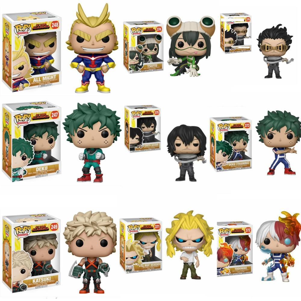 Funko Pop Anime My Hero Academia Character Deku & Katsuki & All Might & TODOROKI Tsuyu Cute Vinyl Figure Collection Model Toys
