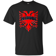Creative Comical albanian eagle albania 3d red tshirt male Leisure solid color men's t shirt cotton HipHop Tops(China)