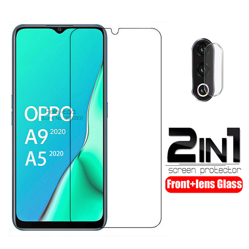 2 In 1 Camera Lens Protective Glass For Oppo A9 2020 Screen Protector Protection Glas For Oppo A5 2020 A 5 9 Tempered Glass Film