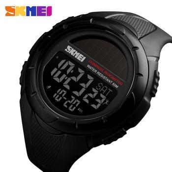 SKMEI Compass Solar Watches Mens Pedometer Calories Wristwatches Men Digital Outdoor Sport Alarm Hour Chrono reloj hombre 1488 - discount item  49% OFF Men's Watches