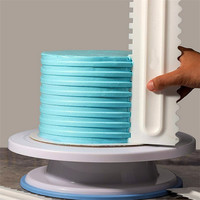 Cake Decorating Comb Icing Smoother Bakeware