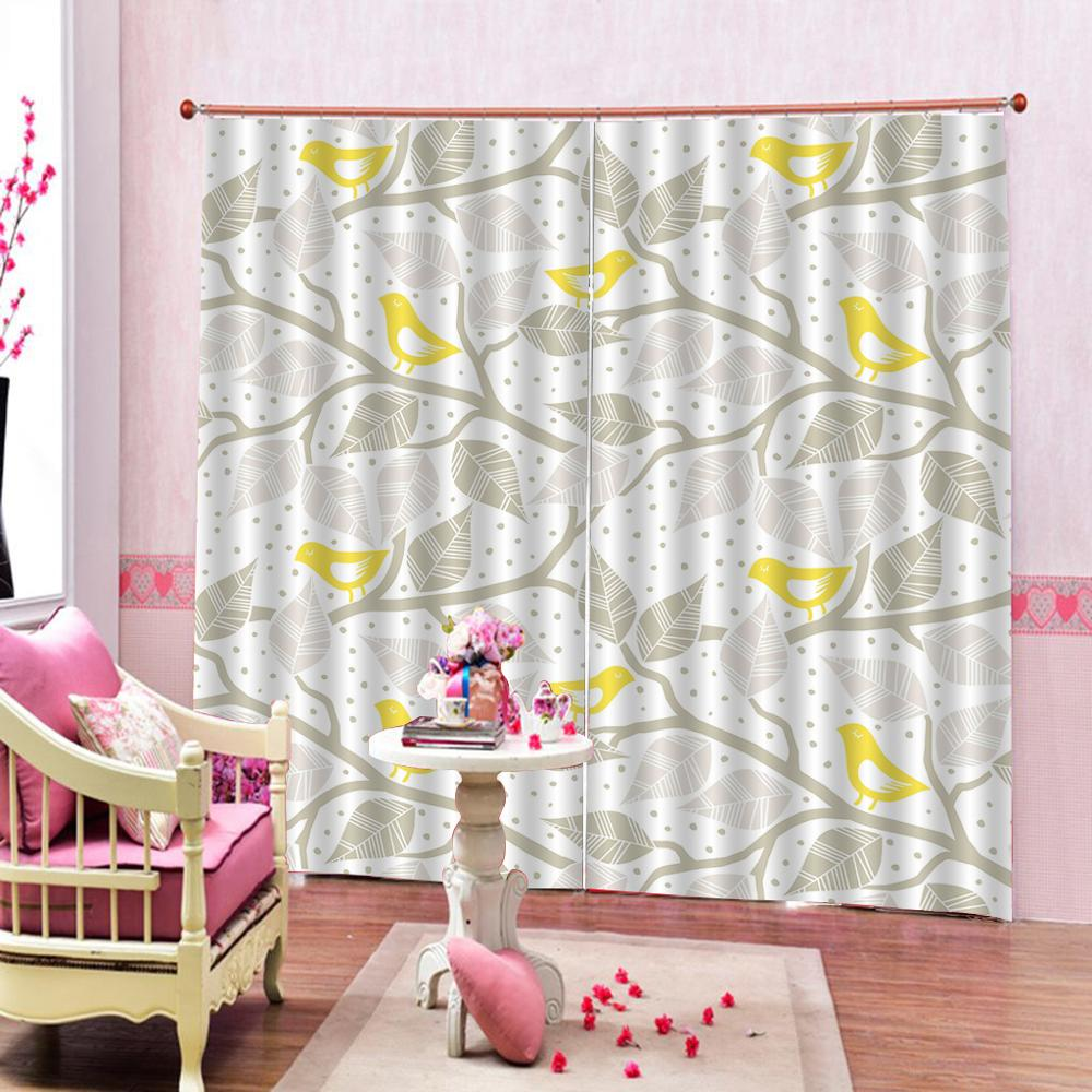 grey curtains photo Blackout Window Drapes Luxury 3D Curtains For Living room Bed room Office Hotel Home stereoscopic curtains